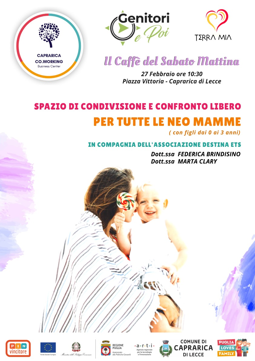 Caffè Sabato Mattina Genitori E Poi mamme Caprarica