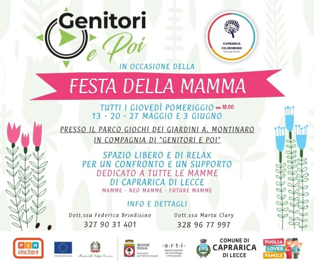 Giovedi Caprarica Incontro Mamme Neomamme Relax